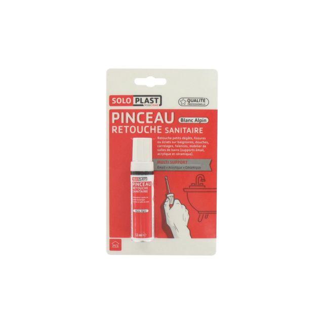 Soloplast Pinceau De Réparation Céramique Email Acrylique Blanc