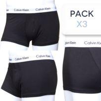 Calvin Klein - Calecon Pack x3 U2664g 3p Low Rise Trun 001 Noir