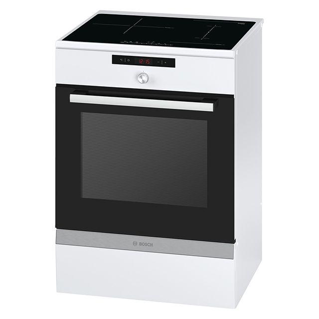 bosch cuisini re lectrique 66l 3 feux inductions blanc hca857320f achat vente cuisini re. Black Bedroom Furniture Sets. Home Design Ideas