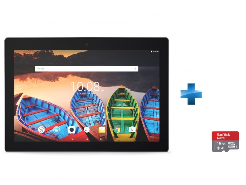 Tab X103F - 10,1'' IPS HD - 16 Go - Noir + Carte micro SD Ultra 16 Go100MB/s C10 UHS U1 A1 Card+Adaptateur