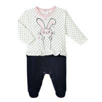 15fbf1c236c54 Petit Beguin - Pyjama bébé fille velours Magic Bunny - Taille - 3 mois