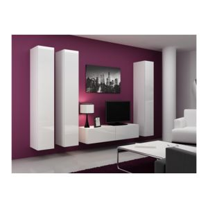 chloe design meuble tv design suspendu fidi blanc pas cher achat vente meubles tv hi fi. Black Bedroom Furniture Sets. Home Design Ideas