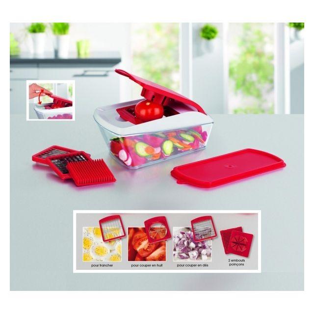 maxx cuisine chop 39 n slice 9 pi ces couper en d s b tonnets et quartiers vos fruits. Black Bedroom Furniture Sets. Home Design Ideas