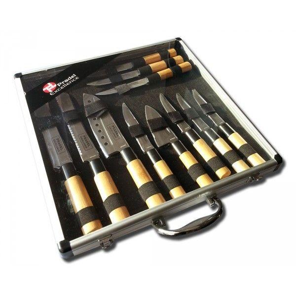 Pradel Excellence Valise de 11 Couteaux type Japonais