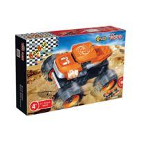 Banbao - jeu de construction - voiture tout terrain retro friction 81 pieces