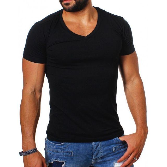ead5f6e7d81 Beststyle - Tee shirt homme uni pas cher noir - pas cher Achat ...