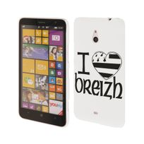 Kabiloo - Coque blanche motif drapeau breton I Love Breizh Nokia Lumia 1320