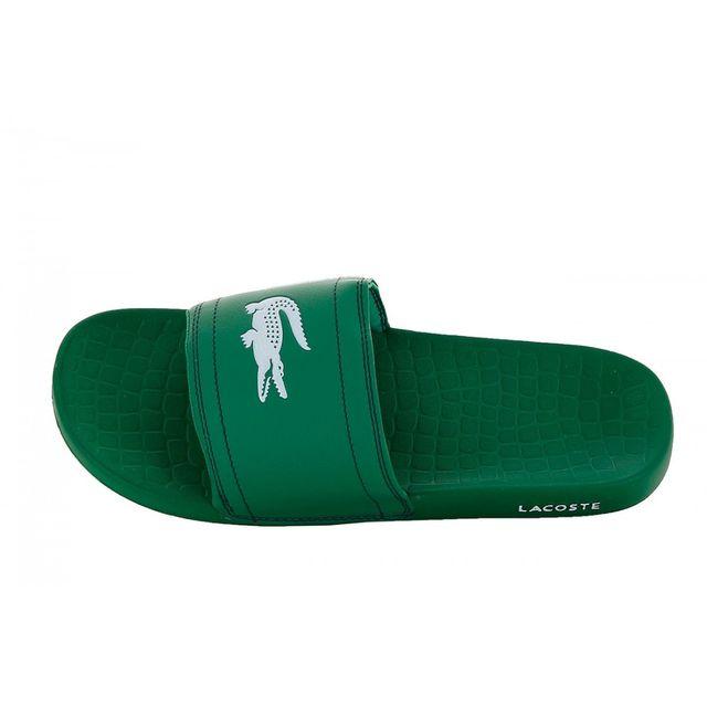 Lacoste Claquettes Fraisier Noir - Chaussures Mules Homme