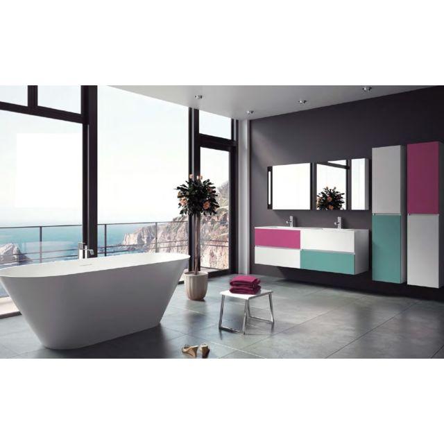 Riho Ensemble meuble & lavabo Cambio Comodo Set 23 en bois laqué brillant 120x46x H 57 cm