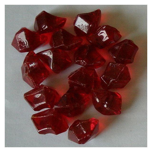 CHEMIN'ARTE lot de pierres décoratives rouge pour cheminées électriques - 018