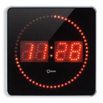 No Name - Studio Horloge a Led Studio 2en1 Ø28 cm aluminium et rouge