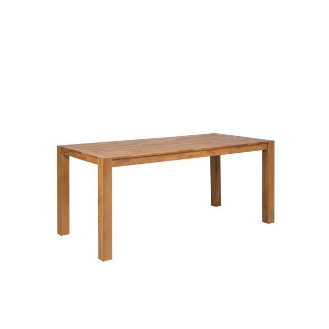 BELIANI Table de salle à manger en chêne clair 150 x 85 cm NATURA - marron clair