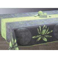 Le Linge De Jules - Nappe anti-taches Lotus anis - taille : Rectangle 150x200 cm