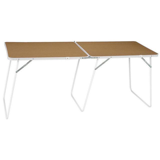 EREDU Table de camping double VOLYNKA