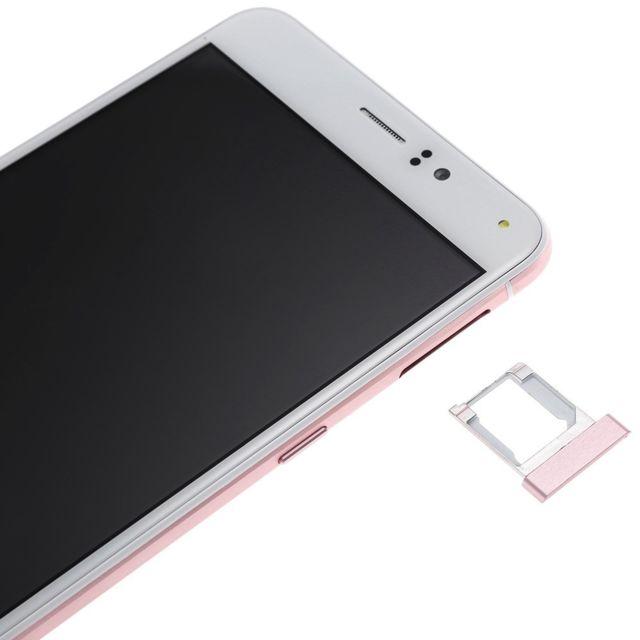 Auto-hightech Smartphone avec Android 5.1, 6 pouces, 3G, quad core et deux caméras - Rose