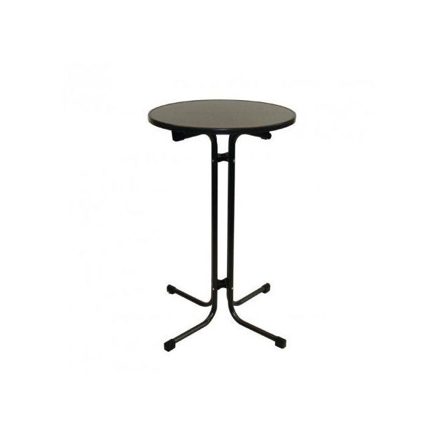Materiel Chr Pro Table haute Limbourg gris 70 cm