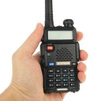 Yonis - Baofeng Uv-5R Talkie-walkie récepteur radio fréquence modulable Noir
