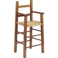 AUBRY GASPARD - Chaise haute en hêtre teinté marron