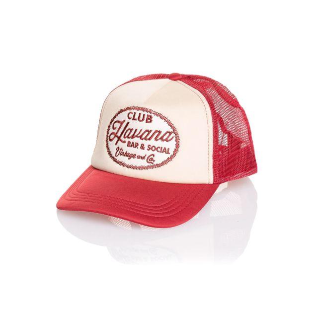 nouveau style ce2c0 8efbe Jack&JONES - Casquette homme rouge vintage à filet - pas ...