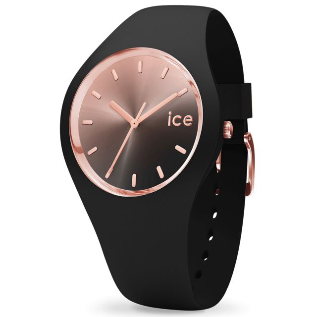 ab61b7921bdcb Ice-Watch - Montre femme Sunset Black Ic015748 Achat / Vente Montre  Analogique pas chère - RueDuCommerce