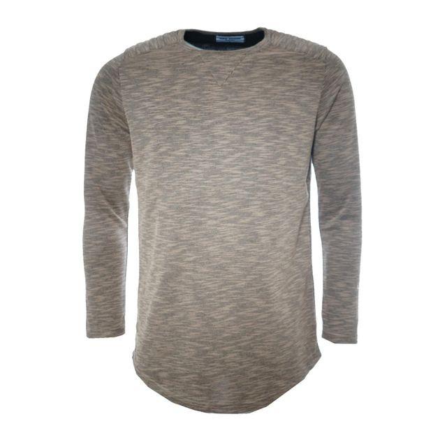 Gov Denim - T-shirt manches longues oversize homme beige 162012 BG M - pas  cher Achat   Vente Tee shirt homme - RueDuCommerce 8acc433abc4