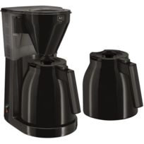 Melitta - Cafetiere filtre - Easy Therm + 2eme verseuse 1010-061 Black