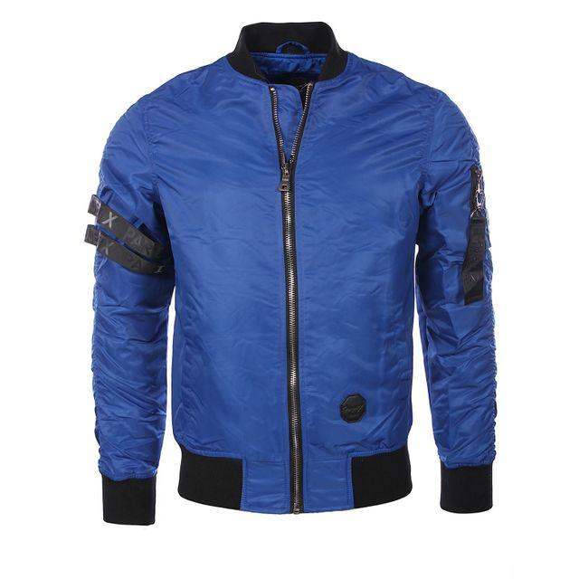 Homme Vestes   Adidas veste bomber à effet matelassé Bleu