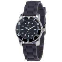 Xtime - Montre dame noire avec bracelet gomme Xtd016-010