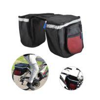 Malatec - Double sacoche vélo grande capacité sac Gris
