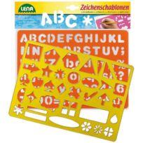 Lena - Set CrÉATIF 2 Pochoirs En Plastique Alphabet, Chiffres, Formes Avec Feuille ModÈLES