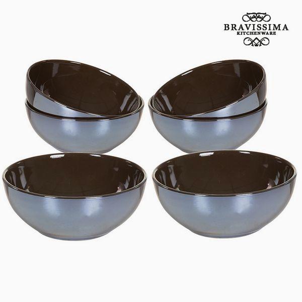 No Name Ensemble de bols Vaisselle Marron 6 pcs Collection Kitchen's Deco by Bravissima Kitchen