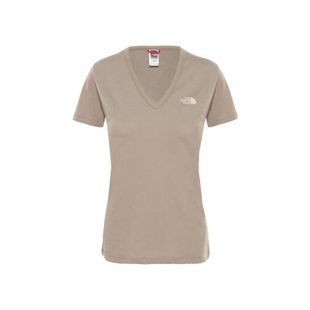 Shirt Simple Femme Courtes Dome À North Face T The Marron Manches TlK1JFc3