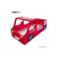 Homestyle4U - Lit simple 90x200 voiture pompier