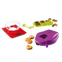 Domoclip - Appareil à mini cakes + Set moule mini éclairs + Balance culinaire rouge