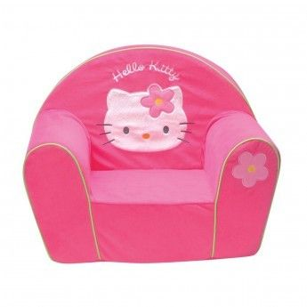 hello kitty fauteuil en mousse made in france pas cher achat vente fauteuils rueducommerce. Black Bedroom Furniture Sets. Home Design Ideas