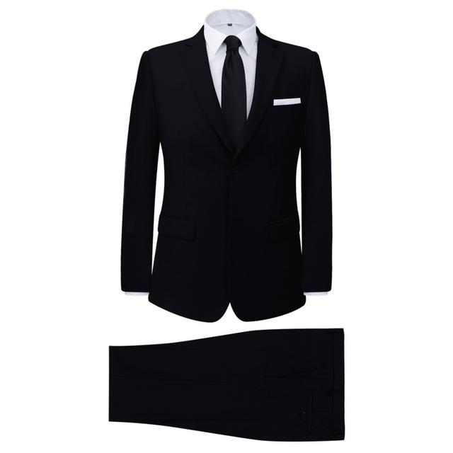 Vidaxl Costume pour hommes 2 pièces Noir Taille 52