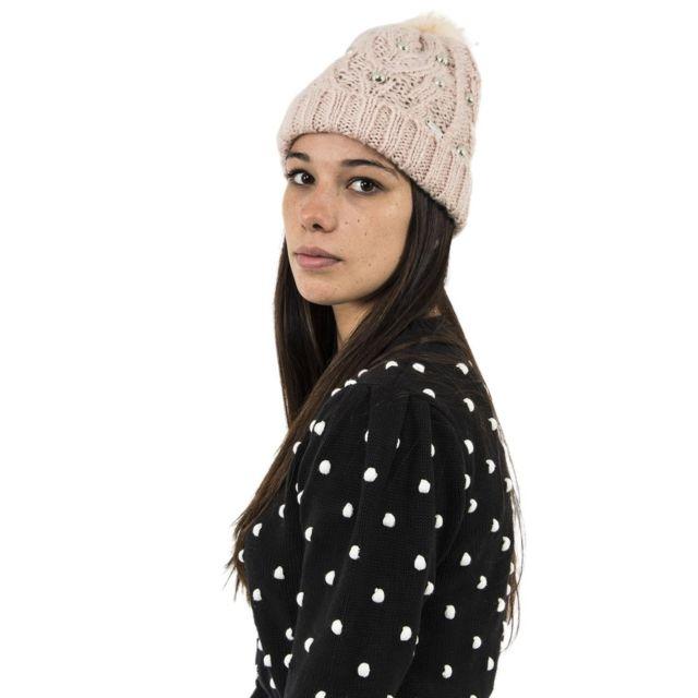 Guess - Bonnets jeans w74z81 ponpon rose - pas cher Achat   Vente  Casquettes, bonnets, chapeaux - RueDuCommerce 480a55aee8a