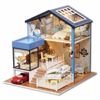 Bricolage Noël De Jouets Cadeau Construction Miniature Enfants Et En Jeu Meubles Des Poupée Maison D'anniversaire Diy Pour Avec Bois PkZXui