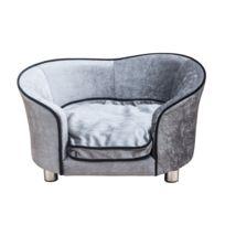 PAWHUT - Canapé/lit pour chien/chat canapé animaux avec accoudoir et dossier 69x49x38cm 16
