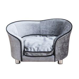 soldes pawhut canap lit pour chien chat canap animaux avec accoudoir et dossier 69x49x38cm. Black Bedroom Furniture Sets. Home Design Ideas