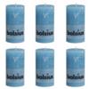 Rustic - Bolsius Lot de 6 bougies 130 x 68 mm gris foncé
