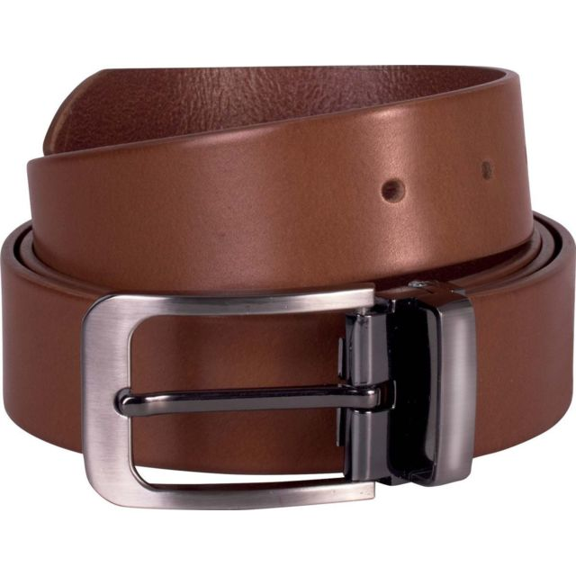 K-up - Ceinture cuir - Kp808 - marron clair - 35 mm Taille unique ... f71553b7533