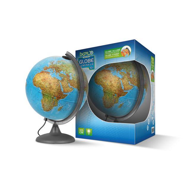 ixplo globe terrestre lumineux deux cartographies. Black Bedroom Furniture Sets. Home Design Ideas