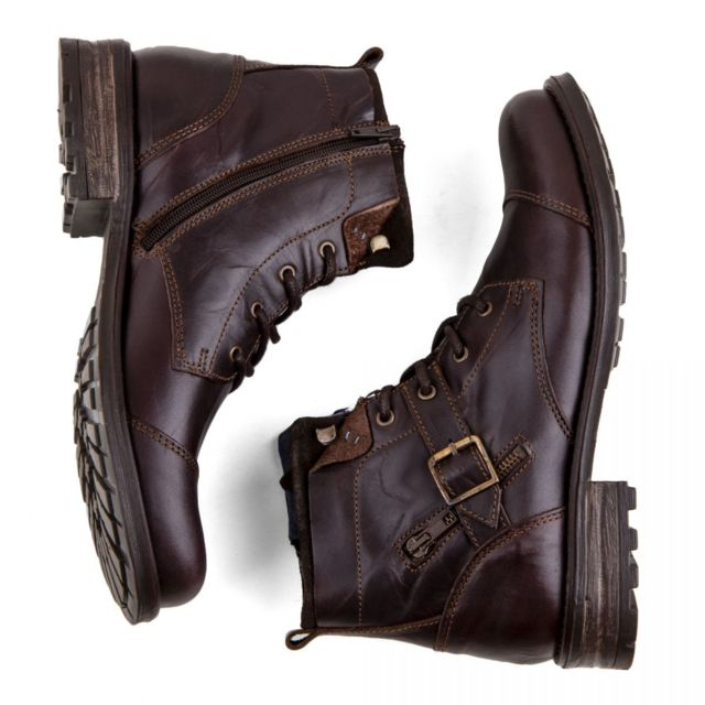 Homme boucles cuir Boots boucles Boots cuir cuir Boots Homme wkN80ZnOPX