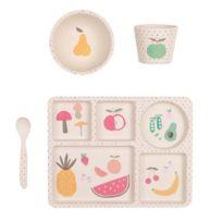Love Mae - Coffret de Vaisselle - Fruits & Légumes