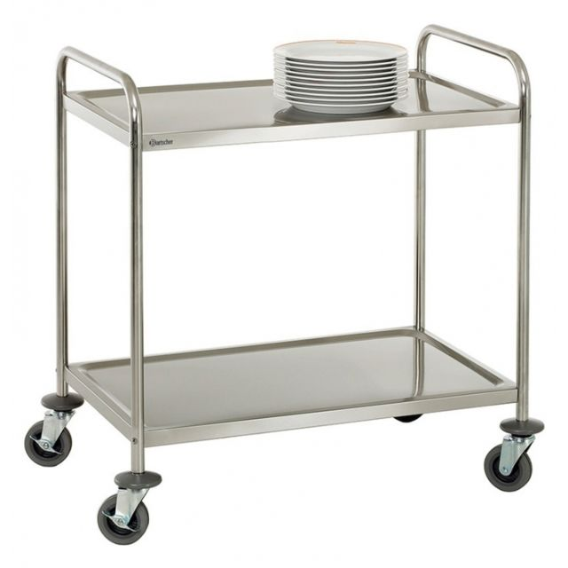 Autre Chariot de service cuisine design professionnel inox 2 étages max 120 kg 3614115