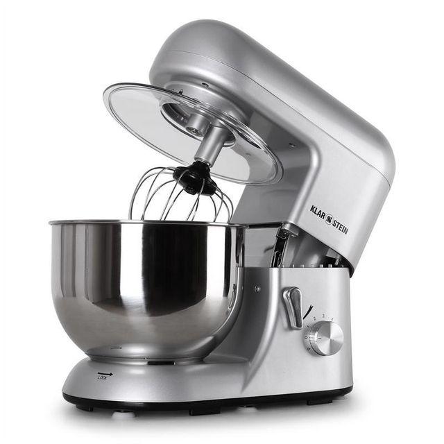 KLARSTEIN Bella Argentea Robot de cuisine multifonction bol 5l 1200w - argent