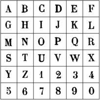 Artemio - Tampon en bois Lettres et chiffres Majuscule - Artémio