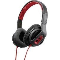 Soul - Casque sport supra-aural Transform micro-casque, volume réglable, résistant à la sueur rouge, gris
