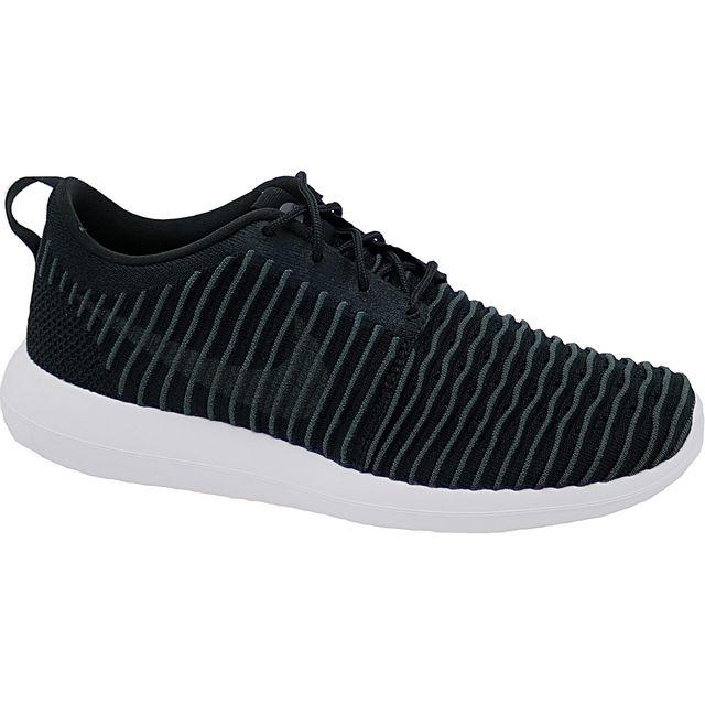 Nike Roshe Noir Two Flyknit 844833 001 Noir Roshe 42 1 2 pas cher Achat 596502
